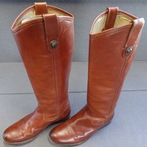 Frye 6 Leather Tall Riding Boot Melissa Brown